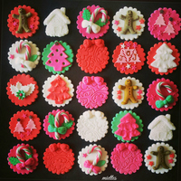 Candy Canes Cupcake Toppers