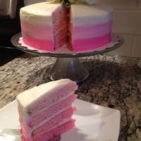 Ombré Time Pink ombré layer cake