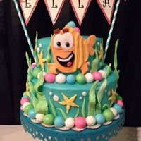 Bubble Guppies Buttercream covered and mmf decorations