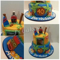 Luau Theme Birthday Cake Luau theme birthday cake