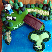 30Th Birthday Golf Cake Vanilla Cake With Vanilla Bc All Edible Decorations Mix Of Modelling Chocolate And Fondant   30th Birthday golf cake - vanilla cake with vanilla BC. All edible. Decorations mix of modelling chocolate and fondant.