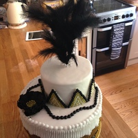 Red Velvet Cake For A Great Gatsby Themed Bridal Shower Everything Edible Apart From The Feathers Red Velvet Cake for a Great Gatsby themed bridal shower. Everything edible apart from the feathers!