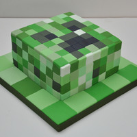 Minecraft Creeper Cake For An 11 Year Old By Finesse Cakes   Minecraft Creeper Cake for an 11 year old by Finesse Cakes