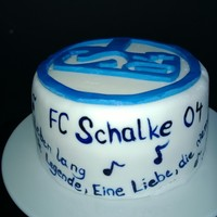 Favorite Soccer Club Cake With Club-Songs And M&ms Fill