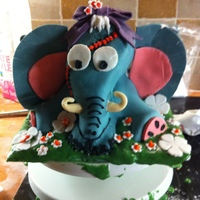 2Nd Cake I Made Chocolate Vegan Sponge I Am Never Doing A 3D Elephant Again 2nd cake I made, chocolate vegan sponge, I am never doing a 3D elephant again!