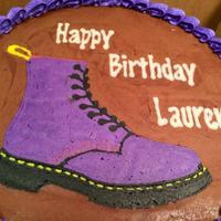 Dr. Martens Boot Cake! Dr. Martens Boot cake, FBCT frozen buttercream transfer (my first one ever!)