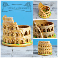 3D Roman Colosseum Cookie 3D Roman Colosseum Cookie