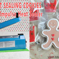 Heat Sealing Cookies With Impulse Heat Sealer Heat Sealing Cookies with Impulse Heat Sealer