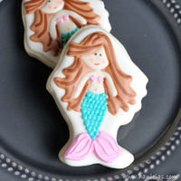 Mermaid Cookies Easy Pin Prick Airbrushcolor Spray Design Transfer Method Mermaid CookiesEasy Pin-Prick Airbrush/Color Spray Design Transfer Method