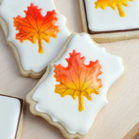 Colorful Fall Leaf Cookies Colorful Fall Leaf Cookies