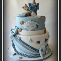 Teddy With The Bottle :) Made this cake for a friends baby shower :) .enjoyed every bit of making this cake :)
