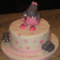 Hippo With Pink Polka Dots hippo with pink polka dots