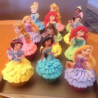 Disney Princess Cupcakes   Disney Princess Cupcakes