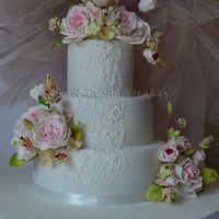Lacework Wedding Cake
