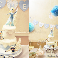 Frozen - Elsa Themed Cake My daugthers birthday cake and treats table