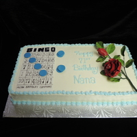 Bingo Lovers Birthday Cake With Sugar Rose Bingo Lover's Birthday Cake with Sugar Rose