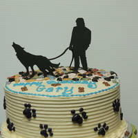 Shadow The recipient of this cake has a dog named Shadow. Shadow is part wolf and likes to howl.