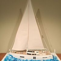Sailing Yacht This is the cake I've made this weekend, a yacht 70cm long by 85cm tall.