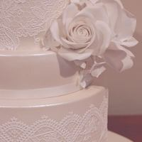 Lace & Roses This is the wedding cake I've made last week, using lace and sugarpaste roses. All edible.
