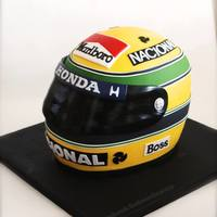 Ayrton Senna'S Helmet Replica The helmet cake i've made for a huge Ayrton Senna's fan.