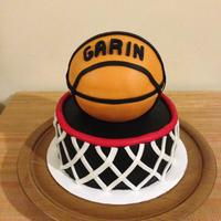 Basketball And Hoop Birthday Cake basketball and hoop birthday cake!