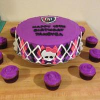 Purple Monster High Birthday Cake Purple monster high birthday cake