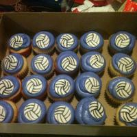 Last Minute Order For Volleyball Cupcakes There Not Much But They Look Ok And The Kids Loved Them   last minute order for volleyball cupcakes. there not much but they look ok and the kids loved them!