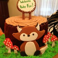 Fox Baby Shower Cake Fox baby shower cake