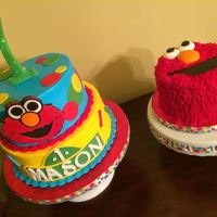 Elmo Theme 1St Birthday Cake All Cakes Are Made With Buttercream Icing Elmo theme 1st birthday cake. All cakes are made with buttercream icing.