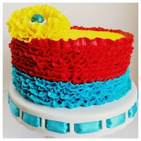 Fiesta Theme Birthday Cake