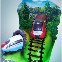 Cake With Trains