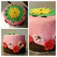 Welcome Spring Cake HiIts a chocolate cake With cream cheese n red berries marmelade filling...with fondant Deco.