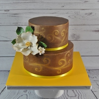 Gold And Semi Naked Cakeno Fondantthis Is My Last Cake For Year 2014 Its A Chocolate Cake Covered With Milk Chocolate Ganache I Call It Gold and semi naked cake(no fondant)This is my last cake for year 2014. it's a chocolate cake covered with milk chocolate ganache, I...