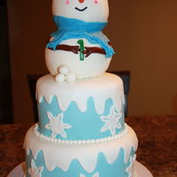 Snowman 1St Birthday