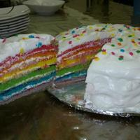 Easter Rainbow Cake *Butter cake with cream cheese frosting and 2 berries jam filling.
