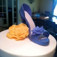 Both The Shoe And Flower Were Made Of Modeling Chocolate Both the shoe and flower were made of modeling chocolate.