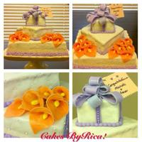 Lilac And Peach Motif Cakesbyrica Lilac and peach motif CAKESBYRICA!