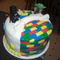 Lego Star Wars Cake With Hand Crafted Fondant Legos And Figures Lego Star Wars cake with hand crafted fondant legos and figures