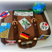 This Was A Cake Done For A Guy Who Simply Loves To Travel This was a cake done for a guy who simply loves to travel !!