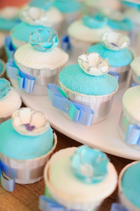 Cupcakes :) A much better picture of the tiffany & co cupcake tower for a friend's wedding