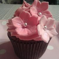 Chocolate Amp Raspberry Cupcake With Ombre Flower Decoration Chocolate & raspberry cupcake with ombre flower decoration