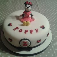 "Minnie Mouse Inspired 8 Cake Minnie Mouse inspired 8"" cake"