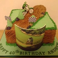 This Is An Edible Image Printed Out Of The Birthday Boy And The Bike And Rider Is Icing Too This is an edible image printed out of the birthday boy, and the bike and rider is icing too.