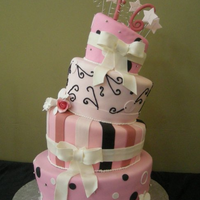 Topsy Turvy Sweets 16 Cake