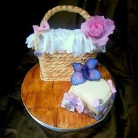 Basket Cake *There is an air of spring … Hence the idea of ​​a sweet basket cake :) Completely edible, chocolate cake...