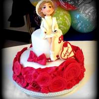 50Th Rose Cake One of the last two cakes made ​​on the eve of 31 December … this is for the birthday of a beautiful fifty...