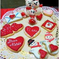 Christmas Love's Cookies And A Bears Family *Many Merry Christmas to you all! These are my cookies, decorated with icing and a family of teddy bears … because Christmas is...