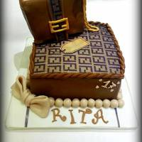 Fendi *Cake made ​​in a hurry for a lover of Fendi … The whole chocolate cake filled with cream and hazelnut cream...
