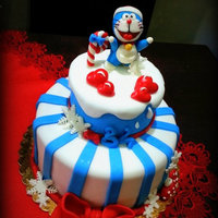 Doraemon 34Th Birthday I want to share with you the cake I made for the 34 years of my husband … I wanted to do something fun and romantic at the same...