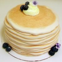 Pancake Stack Father's Day Cake I'm pretty new to cake decorating (I've only done basic cakes and one super fug teapot cake a few years ago). I made this pancake...